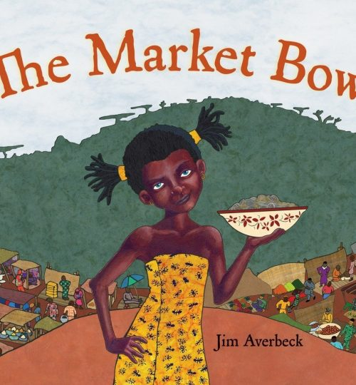 The cover image of The Market Bowl, which shows Yoyo holding a bowl full of food, her head cocked at a sassy angle.